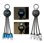 Spotlight Illuminating USB Cable w/ Chevrolet Bowtie Logo - Color Options
