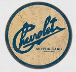 Chevrolet Historic Logo Round Tin Sign