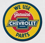 We Use Genuine Chevrolet Parts Round Magnet