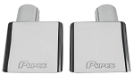 C3 Corvette 1970-1973 Pypes Performance 2.5 inch Stainless Steel Tips w/ Logo - Pair