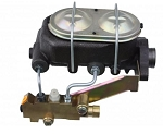 Universal Master Cylinder Kit with Side Mount 4 Wheel Disc Brake Proportioning Valve - Multiple Options