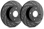 C4 Corvette 1984-1988 SP Performance Diamond Slot Rotors With Black Zinc Plating - Multiple Options