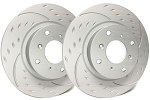 C4 Corvette 1984-1988 SP Performance Diamond Slot Rotors With Gray ZRC - Multiple Options