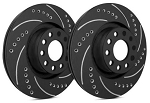 C4 Corvette 1984-1988 SP Performance Drilled And Slotted Rotors With Black Zinc Plating - Multiple Options