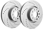 C4 Corvette 1984-1988 SP Performance Drilled And Slotted Rotors With Gray ZRC - Multiple Options