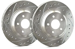 C4 Corvette 1984-1988 SP Performance Drilled And Slotted Rotors With Silver Zinc Plating - Multiple Options