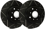 C4 Corvette 1984-1988 SP Performance Peak Series Rotors With Black Zinc Plating - Multiple Options