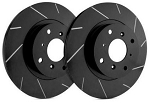 C4 Corvette 1984-1988 SP Performance Slotted Rotors With Black Zinc Plating - Multiple Options