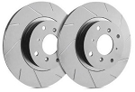 C4 Corvette 1984-1988 SP Performance Slotted Rotors With Gray ZRC - Multiple Options