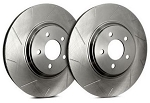 C4 Corvette 1984-1988 SP Performance Slotted Rotors With Silver Zinc Plating - Multiple Options