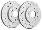 C4 Corvette 1984-1988 SP Performance Cross Drilled Rotors 2pcs - Finish Options