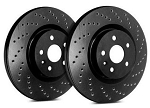 C4 Corvette w/HD Suspension 1988-1996 SP Performance Cross Drilled Rotors With Black Zinc Plating - Multiple Options