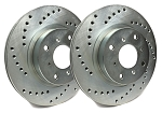 C4 Corvette  1988-1996 SP Performance Cross Drilled Rotors w/ HD Suspension and Silver Zinc Plating - Multiple Options