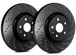 C4 Corvette 1988-1995 SP Performance Cross Drilled Brake Rotors with Black Zinc Plating