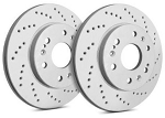 C4 Corvette 1988-1995 SP Performance Cross Drilled Brake Rotors with ZRC Rust Preventative Coating