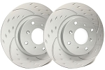 C4 Corvette 1988-1995 SP Performance Diamond Slotted Brake Rotors with ZRC Rust Preventative Coating