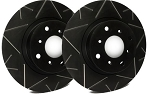 C4 Corvette 1988-1995 SP Performance Peak Series Brake Rotors with Black Zinc Plating