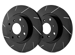 C4 Corvette 1988-1995 SP Performance Slotted Brake Rotors with Black Zinc Plating