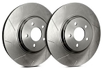 C4 Corvette 1988-1995 SP Performance Slotted Brake Rotors with Silver Zinc Coating - Multiple Options