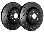 C5 Corvette 1997-2004 SP Performance Cross Drilled Brake Rotors with Black Zinc Plating - Multiple Options