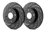 C5 Corvette 1997-2004 SP Performance Diamond Slotted Brake Rotors with Black Zinc Plating - Multiple Options