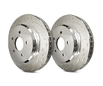 C5 Corvette 1997-2004 SP Performance Diamond Slotted Brake Rotors with Silver Zinc Plating - Multiple Options