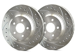 C5 Corvette 1997-2004 SP Performance Drilled and Slotted Brake Rotors with Silver Zinc Plating - Multiple Options