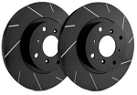C5 Corvette 1997-2004 SP Performance Slotted Brake Rotors with Black Zinc Plating - Multiple Options