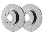 C5 Corvette 1997-2004 SP Performance Slotted Brake Rotors with Gray ZRC - Multiple Options