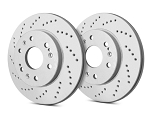 C6 Corvette Base 2005-2013 SP Performance Cross Drilled Brake Rotors with Gray ZRC - Multiple Options