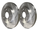 C6 Corvette Base 2005-2013 SP Performance Cross Drilled Brake Rotors with Silver Zinc Plating - Multiple Options