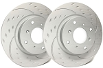 C6 Corvette Base 2005-2013 SP Performance Diamond Slotted Brake Rotors with Gray ZRC - Multiple Options