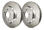 C6 Corvette Base 2005-2013 SP Performance Diamond Slotted Brake Rotors with Silver Zinc Plating - Multiple Options