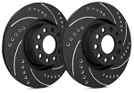 C6 Corvette Base 2005-2013 SP Performance Drilled and Slotted Brake Rotors with Black Zinc Plating - Multiple Options