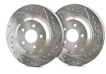 C6 Corvette Base 2005-2013 SP Performance Drilled and Slotted Brake Rotors with Silver Zinc Plating - Multiple Options