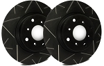 C6 Corvette Base 2005-2013 SP Performance Peak Series Brake Rotors with Black Zinc Plating - Multiple Options
