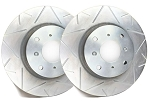 C6 Corvette Base 2005-2013 SP Performance Peak Series Brake Rotors with Silver Zinc Plating - Multiple Options