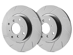 C6 Corvette Base 2005-2013 SP Performance Slotted Brake Rotors with Gray ZRC - Multiple Options