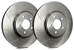 C6 Corvette Base 2005-2013 SP Performance Slotted Brake Rotors with Silver Zinc Plating - Multiple Options