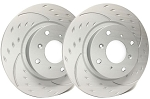 C7 Corvette Stingray w/out Z51 2014-2019 SP Performance Diamond Slotted Front Brake Rotors - Finish Selection