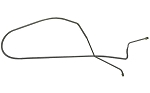 C2 C3 Corvette 1966-1968 1/4 inch Front to Rear Power Brake Line 1pc - Finish Selection