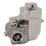 Eddie Motorsports GM Type II / TC Style Aluminum Replacement Power Steering Pump w/ Threaded Mounting Holes & w/ Billet Aluminum Attached Reservoir