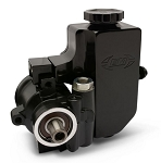 Eddie Motorsports GM Type II / TC Style Aluminum Replacement Black Power Steering Pump w/ Billet Aluminum Attached Reservoir
