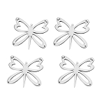 Stainless Steel Butterfly Emblems - 4pc Set - Finish Options