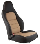C6 Corvette 2005-2011 Two-Tone Leather Sport Seat Covers - Color Options