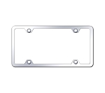 4 Hole Slimline Stainless Steel License Plate Frame - Finish Options