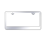 2 Hole Stainless Steel Wide Bottom Frame - Finish Options