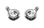 C3 Corvette 1968 CHQ Chrome Plated Reproduction Radio Knobs - 2pcs - Stereo Inner