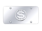 License Plate w/ Dollar Sign Logo - Finish Options