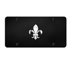 Fleur-De-Lis Logo on Black Plate - Gold or Polished Logo Options